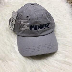 MILWAUKEE bass ball hat gray grey dad hat